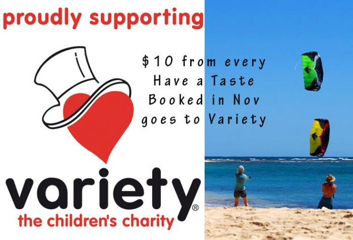 Have a Taste of Kiteboarding and Donate to Variety Fun Run